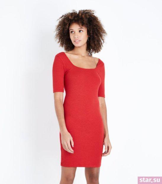 Модное красное платье весна лето 2018 года