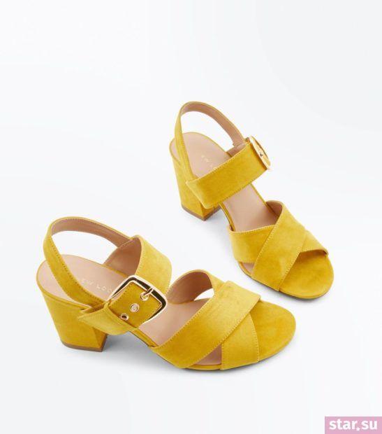 женская желтые обувь весна лето 2018 года