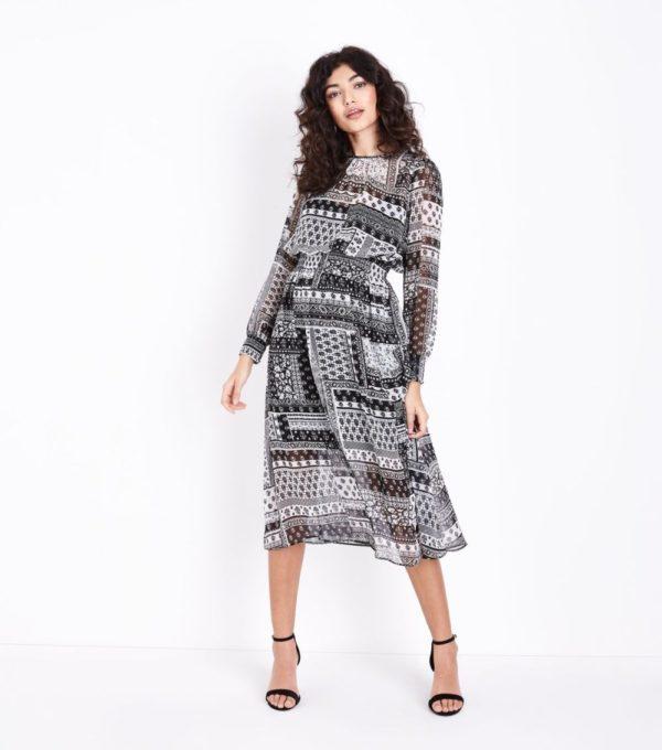Модные тенденции весна лето: черное белым платье