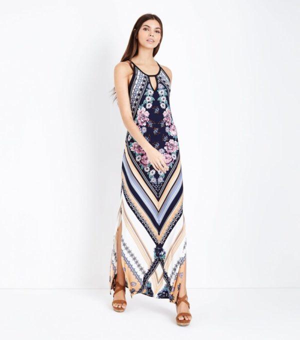 Модные тенденции весна лето: разноцветное платье