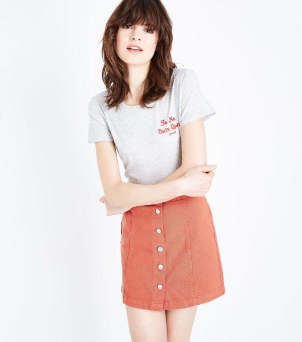 женская оранжевая юбка