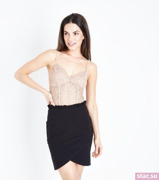 женская черная юбка весна лето 2018 года