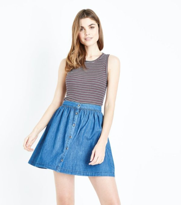 женская синяя юбка весна лето 2019 года