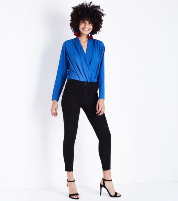 женский черный с синим образ