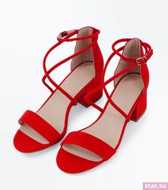 женская красная обувь весна лето 2018 года