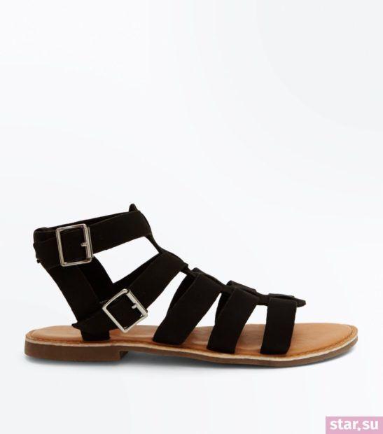 черные сандалии весна лето 2018 года
