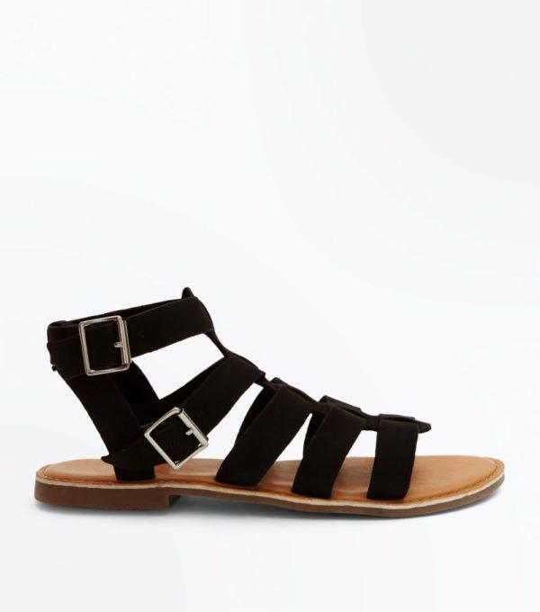 черные сандалии весна лето 2019 года