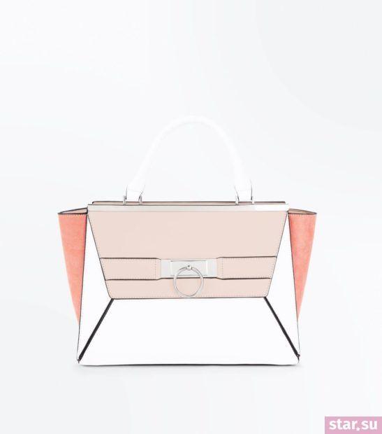 розовая с белым сумка весна лето 2018