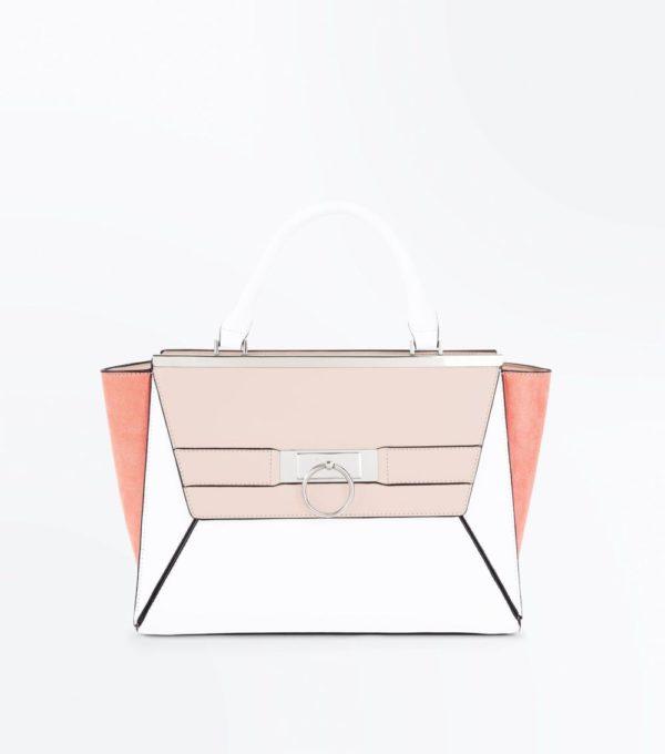 розовая с белым сумка весна лето