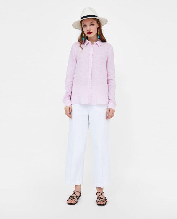модные цвета лето 2020: розовый и белый в одежде