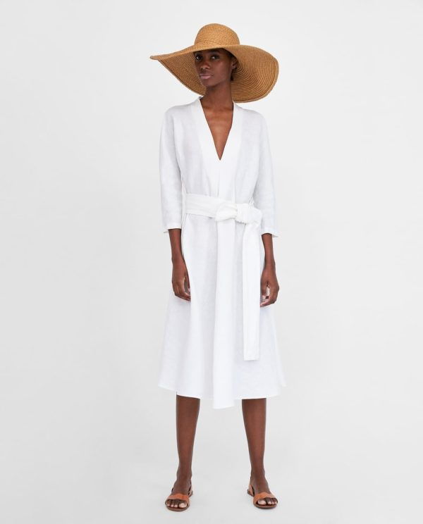 модные цвета лето 2020: белое платье