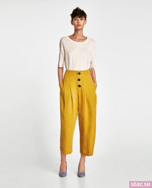 желтый и белый цвет в одежде весна-лето 2018