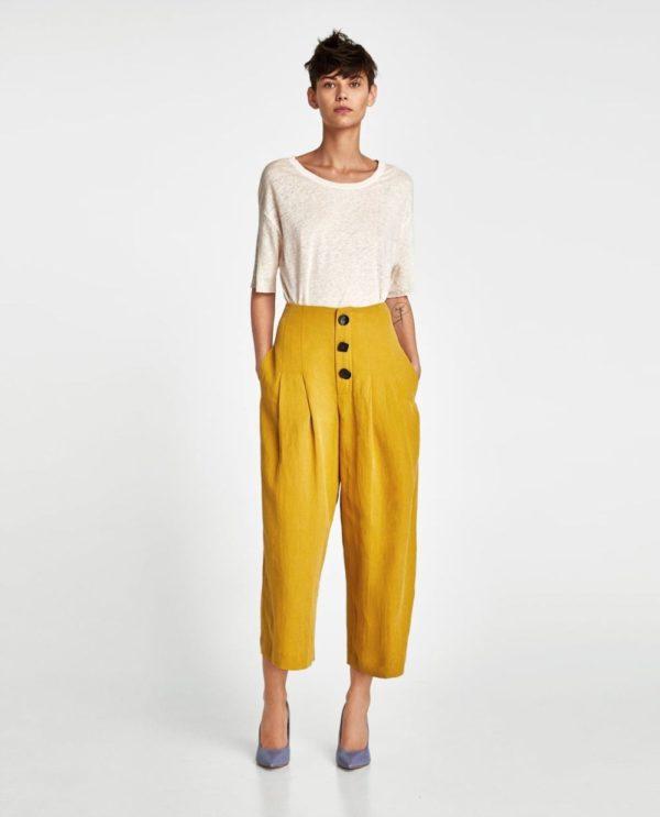 цвета весна лето 2020: желтый и белый цвет в одежде