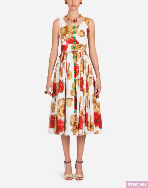 белый с принтом цвет в одежде весна-лето 2018