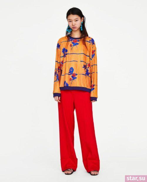 оранжевый и красный в одежде 2018