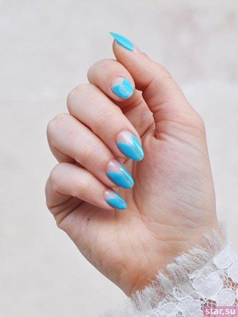 голубой лак для ногтей весна-лето 2018
