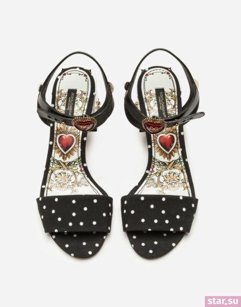 черная обувь весна-лето 2018