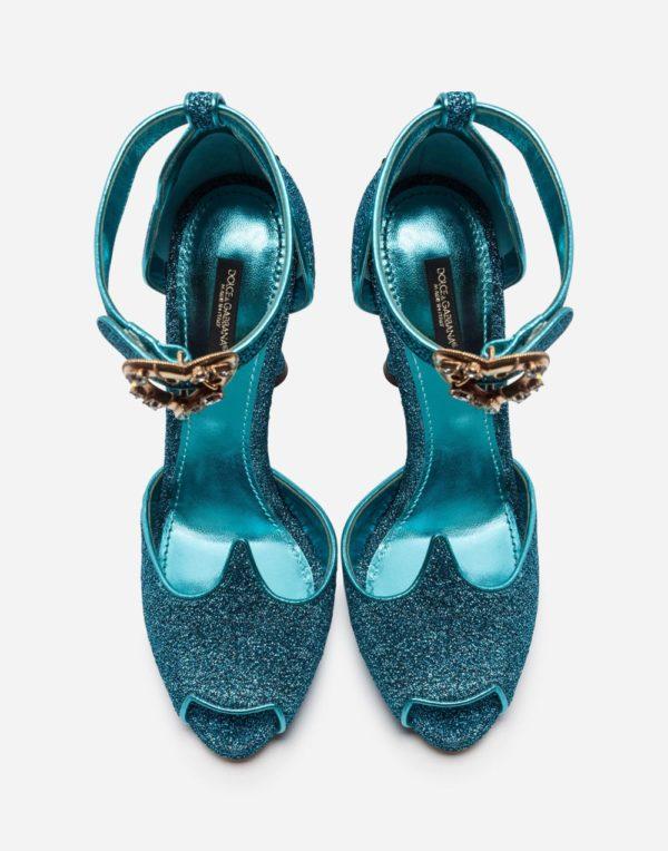 зеленая обувь