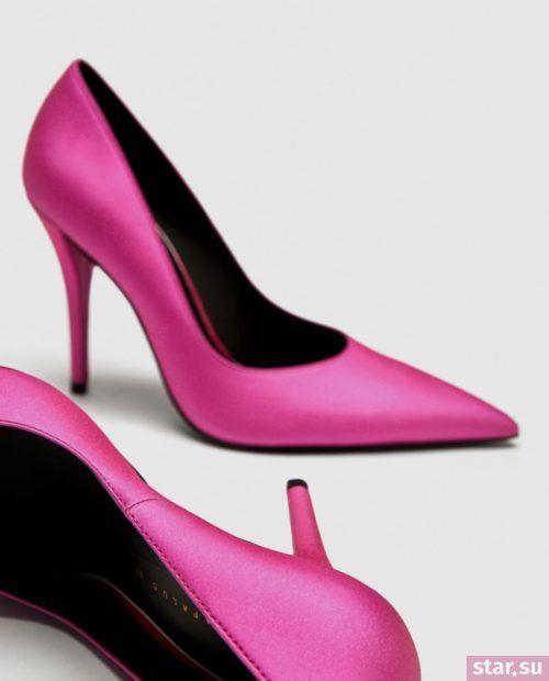 розовые туфли осень-зима 2018-2019
