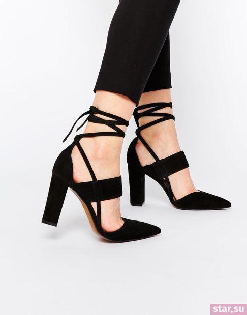 черные туфли со шнуровкой осень-зима 2018-2019
