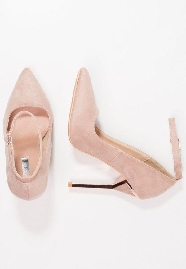 розовая обувь на шпильке осень-зима