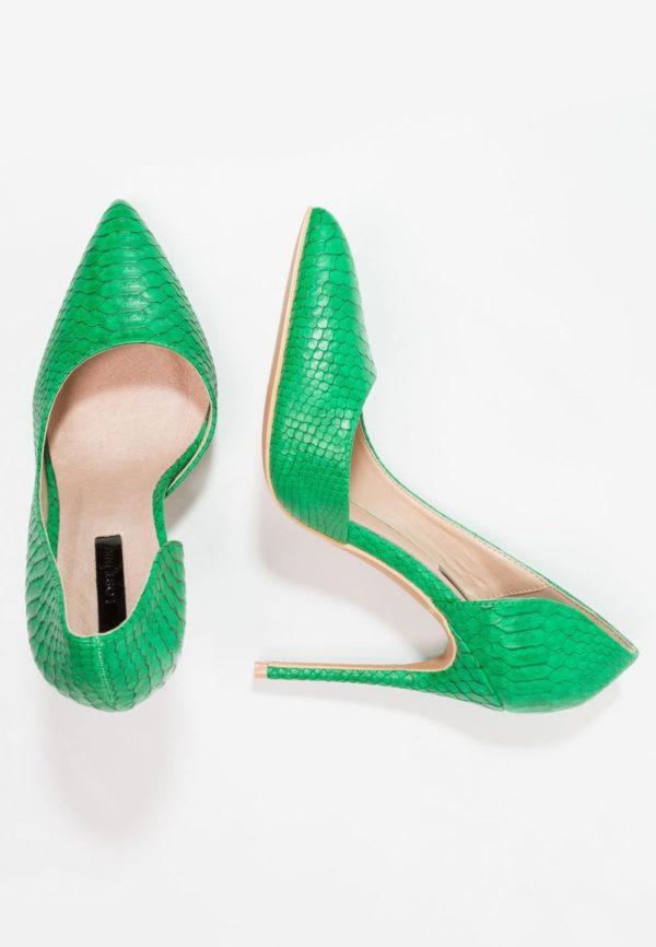 зеленая обувь на шпильке осень-зима