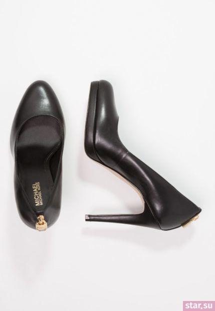 черная обувь на шпильке осень-зима