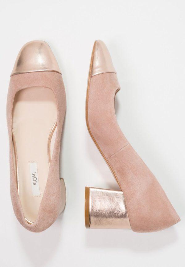 розовая обувь на толстом каблуке