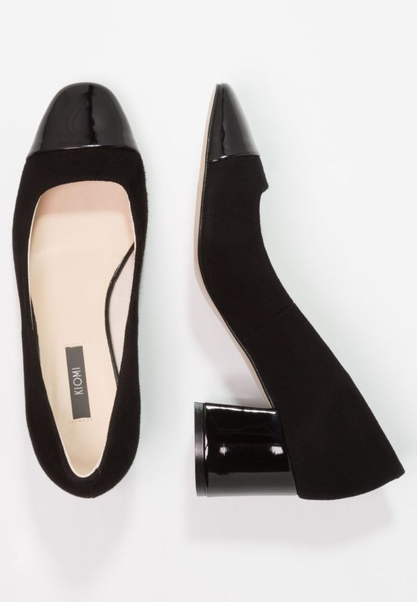 черная обувь на толстом каблуке