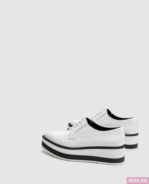 белые туфли осень-зима 2018-2019