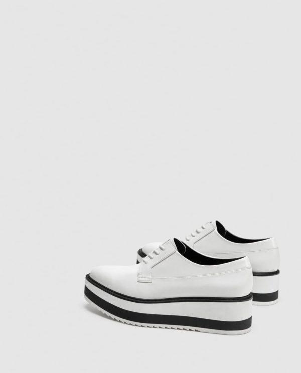 белые туфли осень-зима 2019-2020