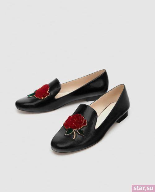 черные туфли осень-зима 2018-2019