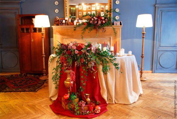Свадьба цвета марсала