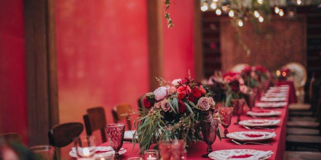 Шокирующая свадьба в цвете марсала