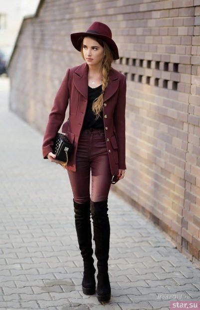 Цвет марсала в одежде