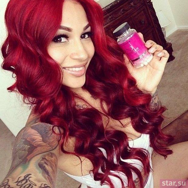 Краски волос цвета марсала