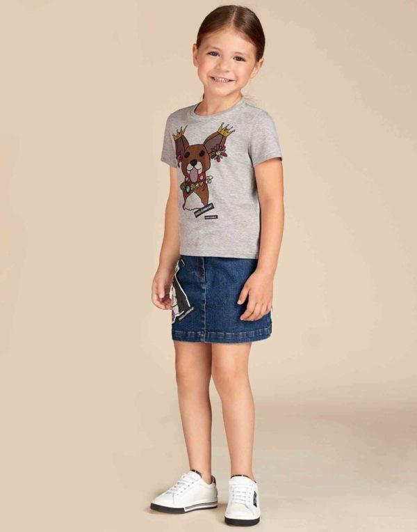 Детская мода 2018-2019: Джинсовая юбка для девочки