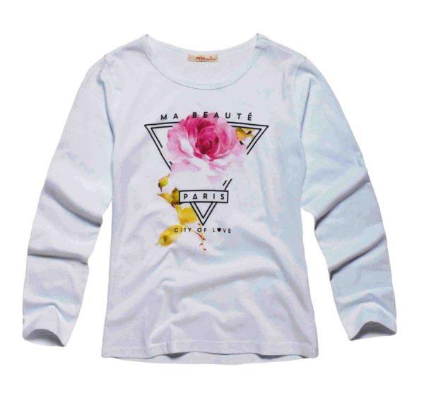 Детская мода: серый лонгслив для девочки