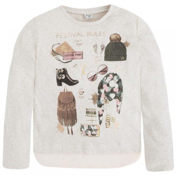 Детская мода: белый лонгслив для девочки