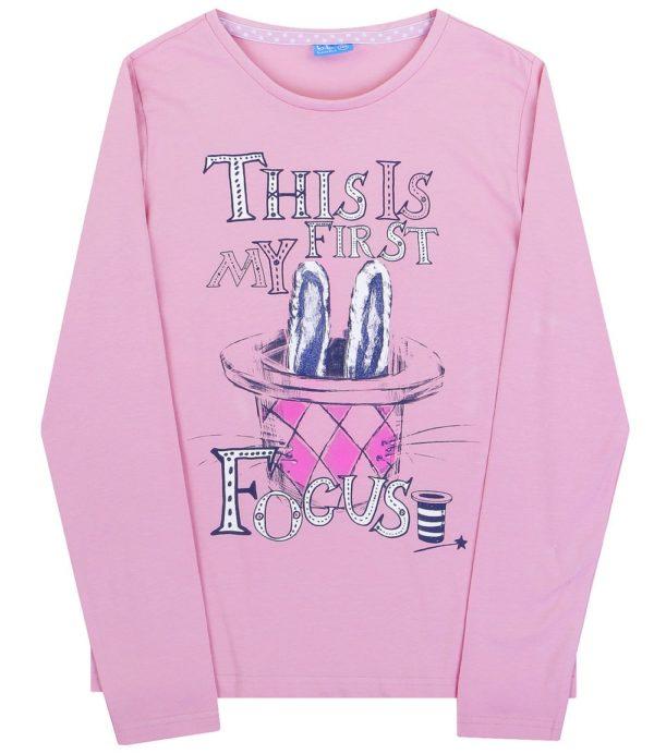 Детская мода: розовый лонгслив для девочки