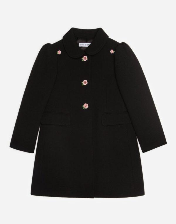 черное пальто для девочки