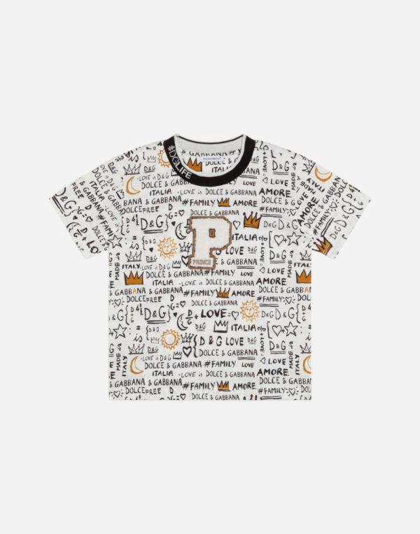 принтованная футболка для мальчиков
