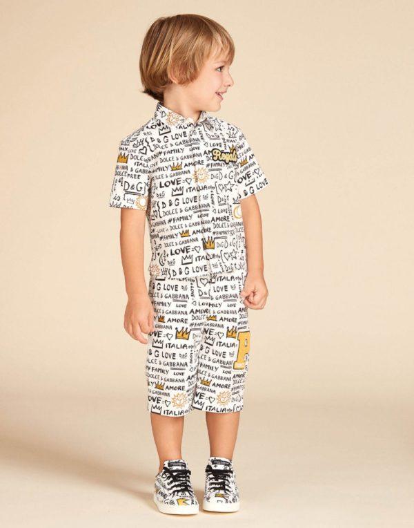 принтованная рубашка для мальчика