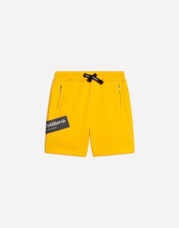 желтые шорты для мальчиков