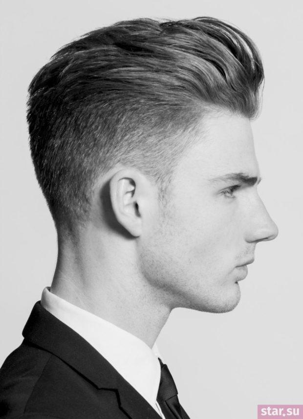 модные мужские стрижки: с выбритыми висками