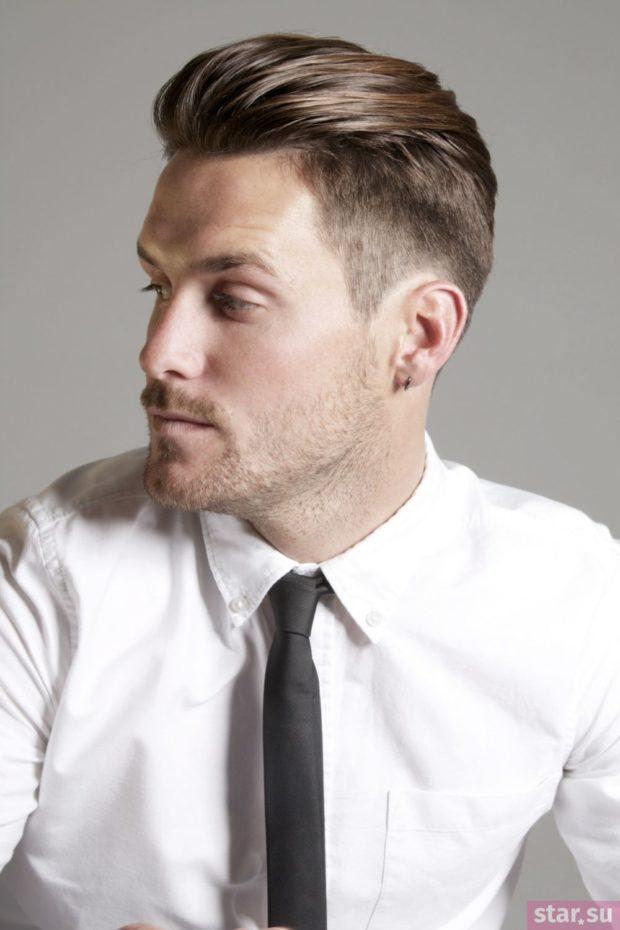 модная мужская стрижка: Элвис