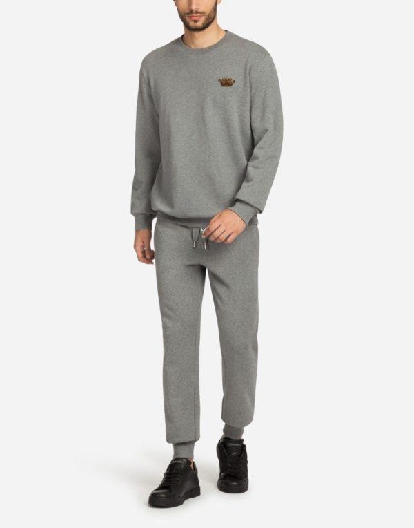 Мужская мода весна лето 2020: серый костюм спортивный с короной