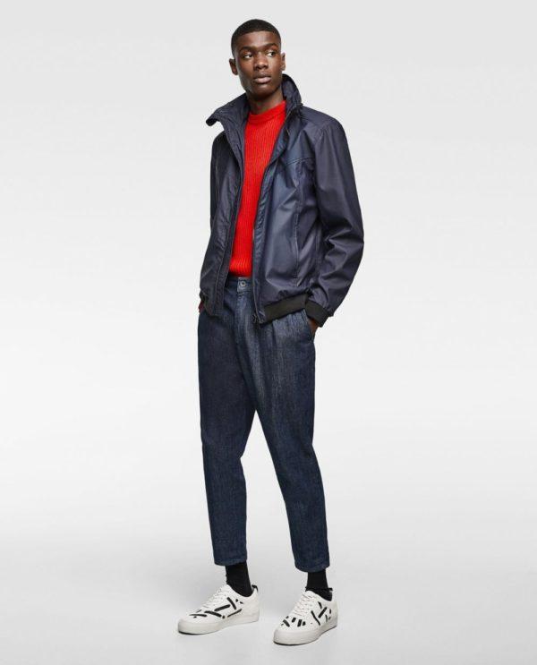 темно-синяя куртка под джинсы