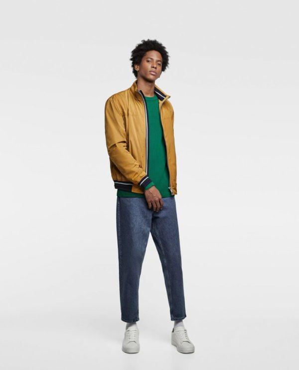 золотая куртка под джинсы