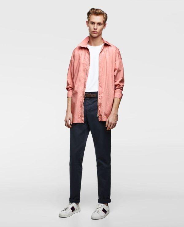 розовая куртка под джинсы
